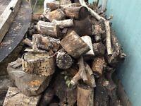 Logs for wood burner or fire pit