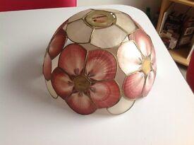 Vintage sea shell lamp shade