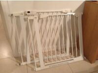 MotherCare pressure fitted Stair gates with extension bars (x2)
