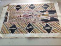 Aboriginal canvas picture