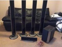 LG4tall speakers prime surround sound system