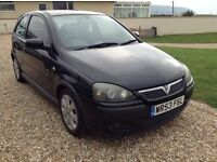 Vauxhall Corsa SX1 16v MOT to June 17, Excellent runner, sporty, black, 2-door, petrol, very clean.
