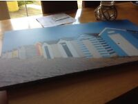 Wall picture beach hut £7