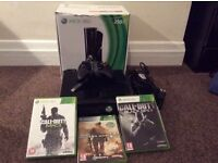 Xbox 360 with 3 games and 1 controller