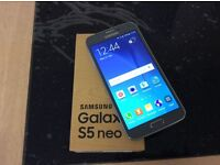 Samsung galaxy s5 neo unlocked boxed as new condition