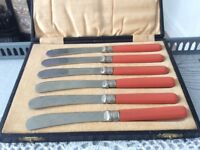 Vintage Boxed Butter Knives.