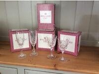 Royal Albert Crystal Glasses.. 8 x Wine Glasses & 2 Champagne Flutes