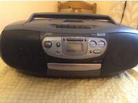 JVC RADIO/CD/CASSETTE PLAYER