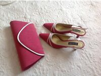 Jacques Vert Occasion shoes and matching handbag.