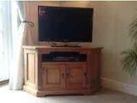 TV stand, corner, antique pine