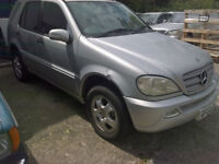 2002 Mercedes W163 ML270 CDI Facelift Auto Breaking for Spare Parts