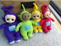 Set of 4 original 1996 cuddly Teletubbies