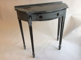 CLASSY HIGH END VINTAGE ANTHRACITE HALLWAY CONSOLE TABLE