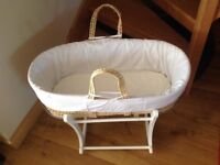 Mothercare rocking Moses basket