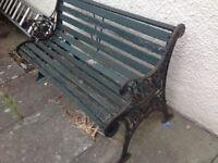 Garden bench. £75