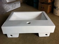 Bathroom Wash Basin, Unused, Contemporary Design, Semi Recess Mounting
