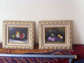 Two beautiful matching framed paintings. As new