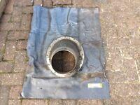 Lead Slate flashing for Flue pipe