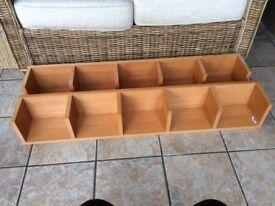 2 Ikea CD and DVD Media Storage shelfs