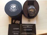 Citizen Skyhawk Atomic Timing Eco Drive Watch Titanium