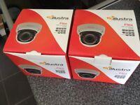 Cctv cameras illustra flex 3mp indoor and outdoor dome cameras