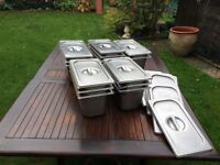 14 victor 4 ltr s/steel Bain Marie's with lids