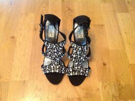 Black Diamanté Heels size 6.5 **New**