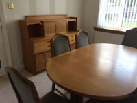 Nathan dining table with 6 chairs and matching sideboard