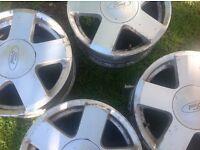 Four alloy wheels