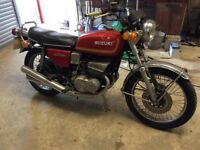 Suzuki gt 380 cassic bike 1974 shed find