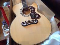 Epihpone 200 SCE Jumbo electro acoustic guitar