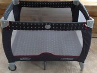 Travel Cot. Graco in Grey. Buyer collects