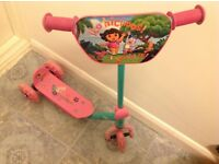 Kid's Scooter-New Dora The Explorer Scooter