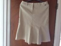 River Island light summer fluted skirt