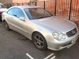 """Bargain"" Mercedes CLK 240 avantgarde 2.6L petrol automatic."