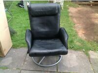 black leather recliner ikea chair