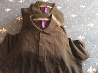 Henbury modern fit men's polo shirt black large 9 tops NEW
