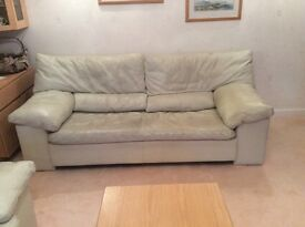 FREE. Very comfy leather sofa. Well worn but still a lot of wear left. Suit student or dog lover.