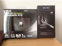 Allreli Superior Bluetooth Headset complete with USB Adaptor