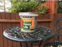 Ronseal fence paint - Harvest Gold - 5L - Unused