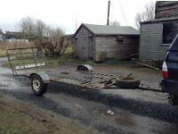 Flat Trailer with Ramp
