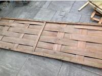 4 fence panels each 6ftx2ft