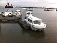 19 ft Fishing/Motor boat ,2 berth,30 hp two stroke o/b ideal for river or canal