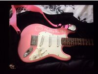 Fender Hello Kitty electric Guitar