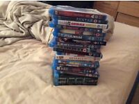19 blu ray movies, many sealed new, good collection, quick sale available