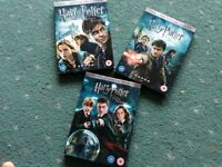 Three Harry Potter dvds