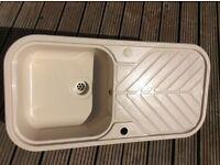 Kitchen Sink Cream Solid