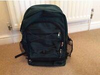 Dark green backpack