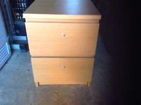 Malm 2 drawer unit