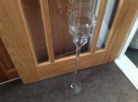 Glass tall stem goblet candle holder 60cm tall